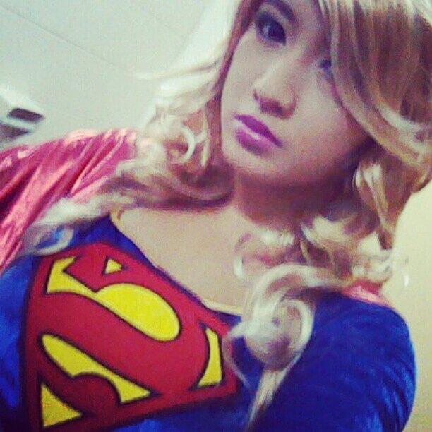 Supergirl ToyCon Cute Super Girl Hannah Villasis Flair Candy Flaircandy  Toy Con