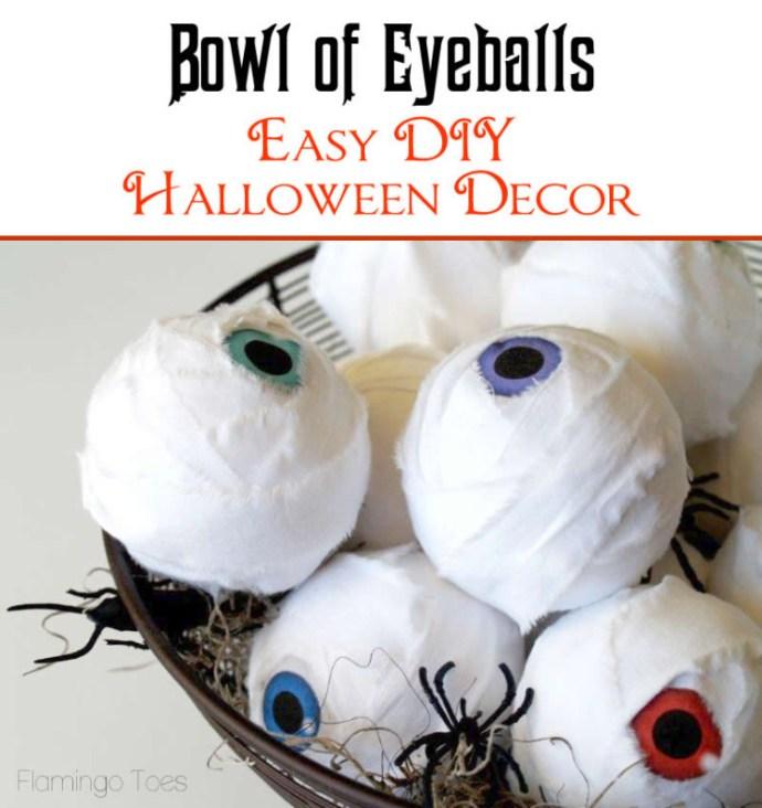 Halloween Bowl of Eyeballs