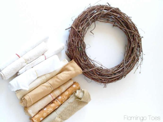 Materials for Fall Wreath