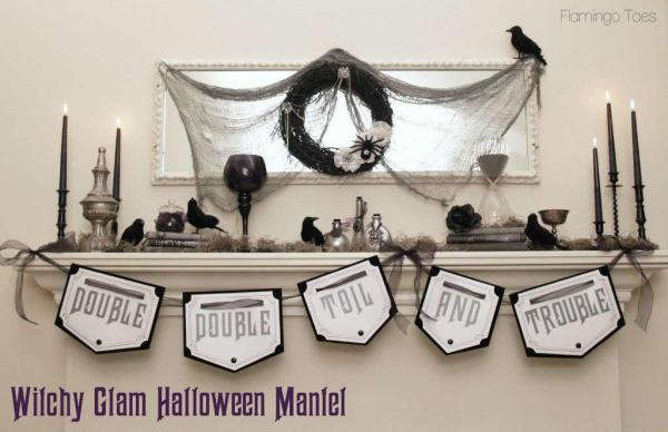 Witchy-Glam-Halloween-Mantel