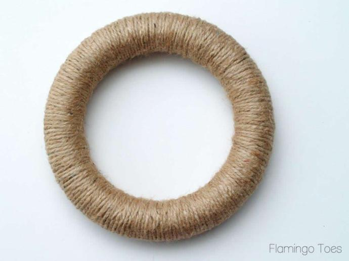 Jute Covered Wreath