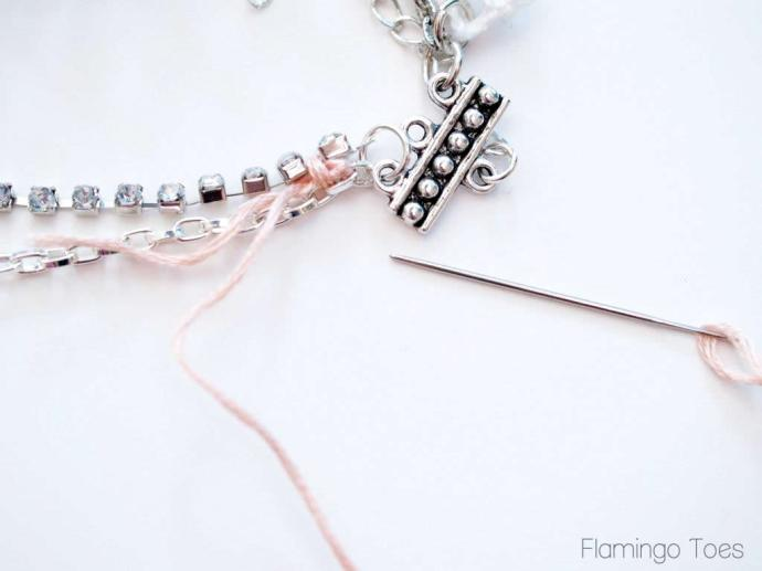 Wrapping rhinestone and chain