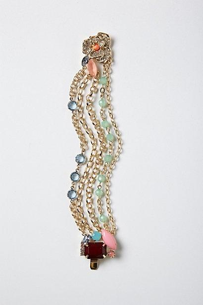 Anthro Lantana Brooch Bracelet