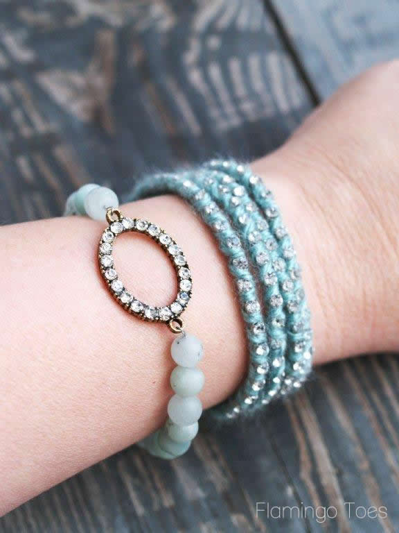 Bead and Rhinestone Bracelets