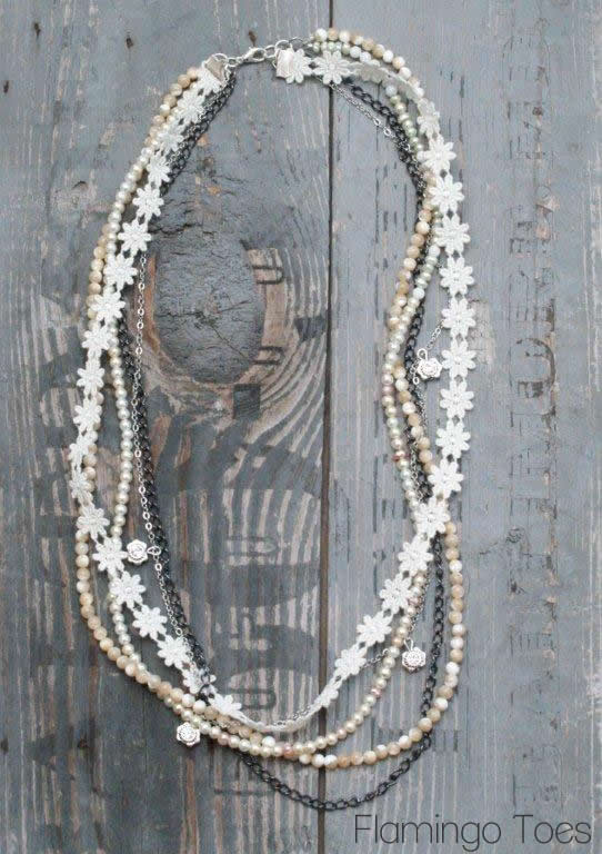 Lace and Bead Necklace