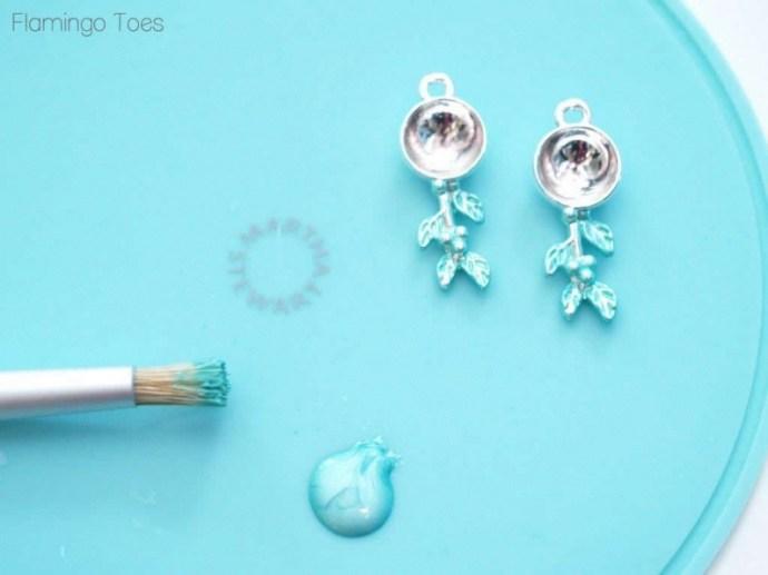 Jewelry Glaze on earrings