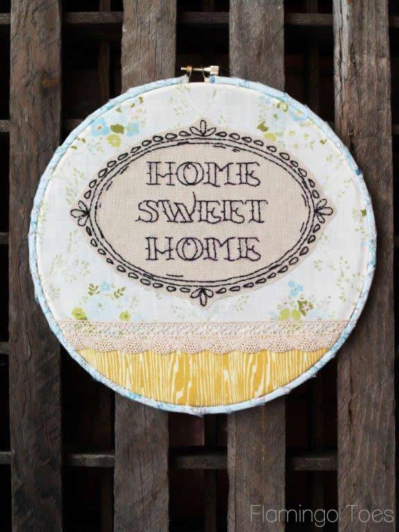 Home Sweet Home Hoop Art