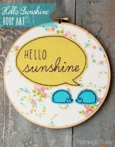 Hello Sunshine Hoop Art