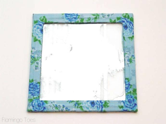 Mod Podge fabric to frame