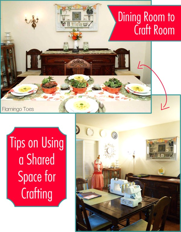 Tips on crafting in a shared space