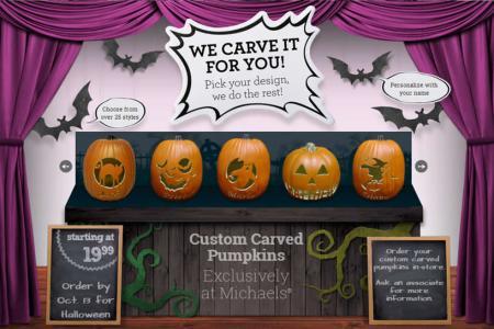 michaels pumpkin carving