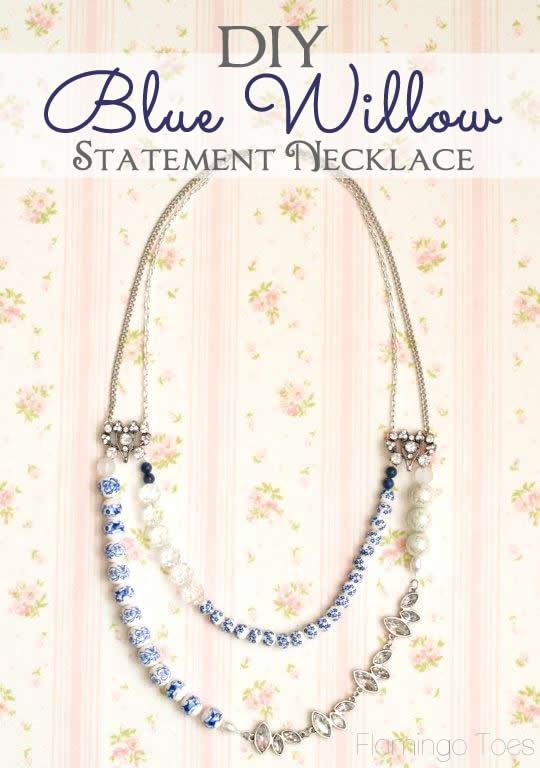 DIY Blue Willow Necklace Tutorial