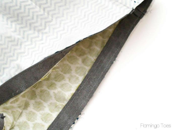 Sewing Purse together