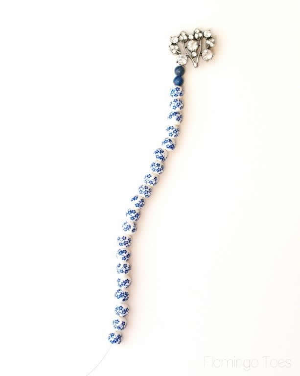 adding beads to strand