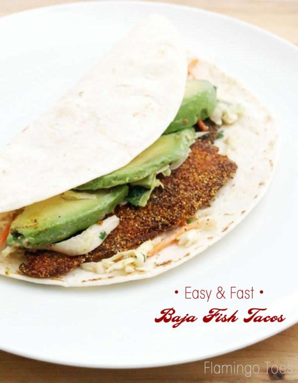 Easy and Fast Baja Fish Tacos