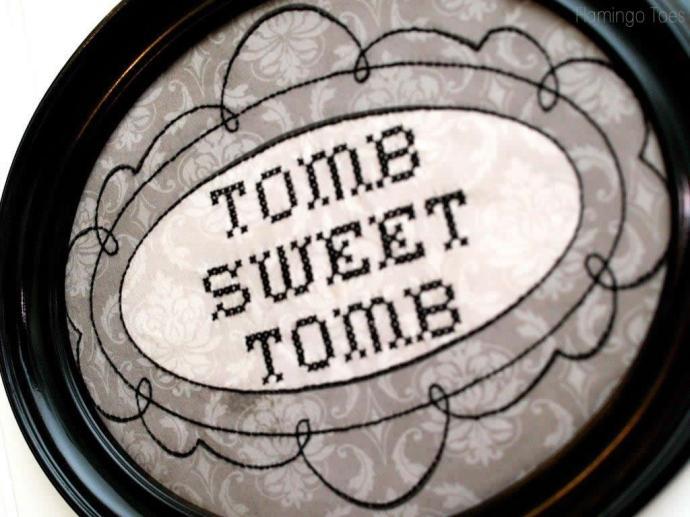 Tomb Sweet Tomb Stitching