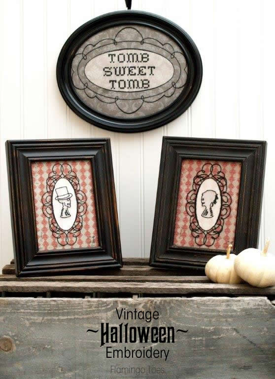 Vintage Halloween Embroidery