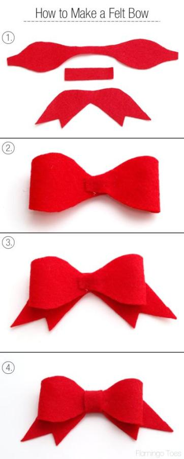 How to Make a Felt Bow
