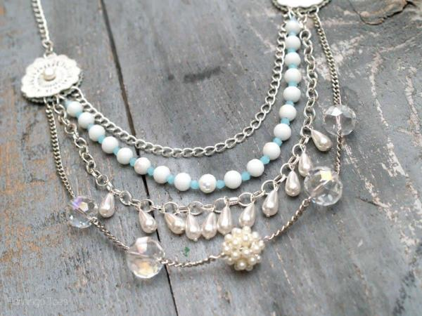 anthro layered necklace