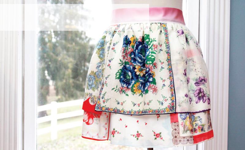 Vintage Handkerchief Apron