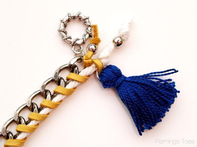 adding tassel to bracelet