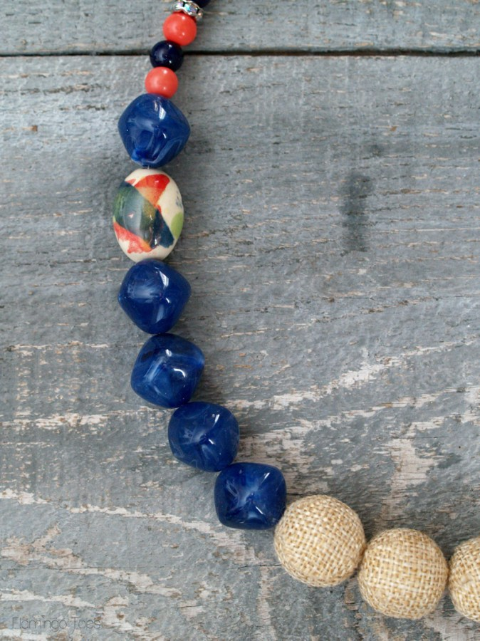 Large Bead Statement Necklace