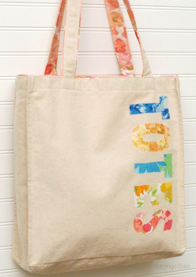 Totes Appliqued Canvas Bag