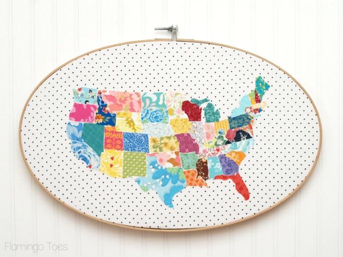Vintage Fabrics US Map