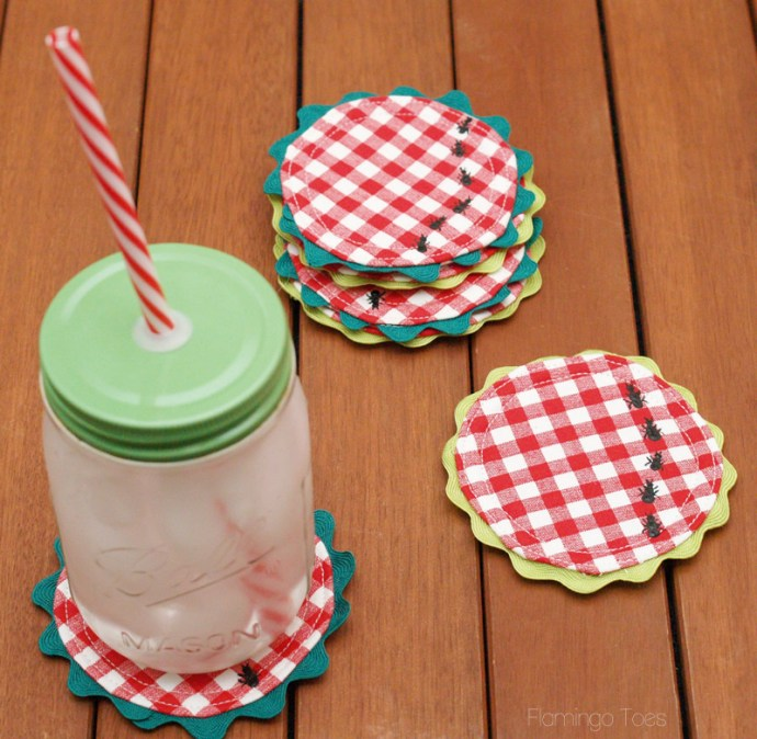 DIY Cute Summer Coasters