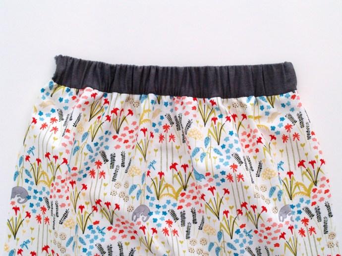Gathered Elastic Back of Skirt