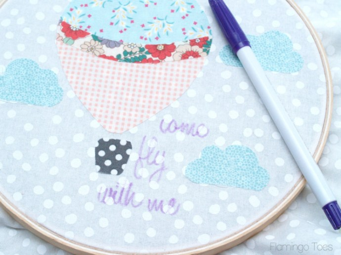 writing words for embroidery