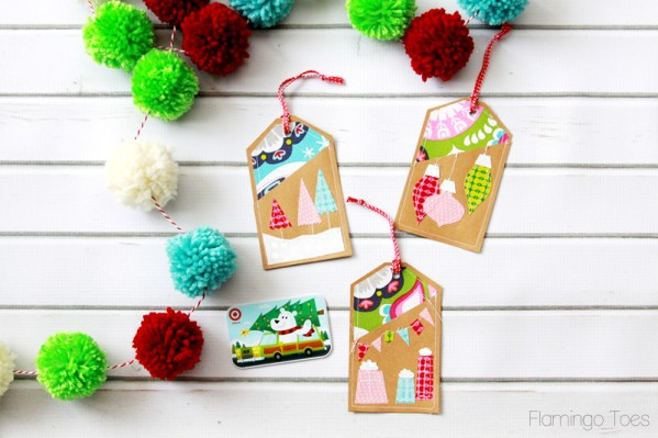 Christmas Fabric and Paper Gift Card Holders