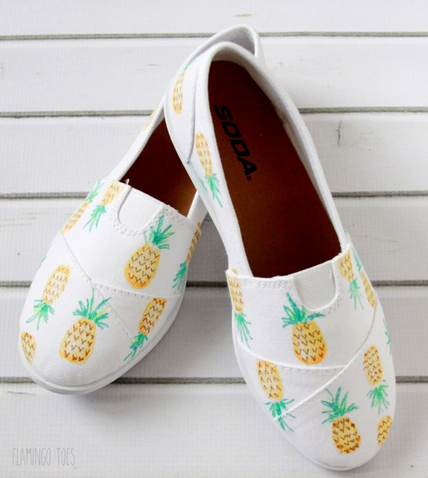 Cute Pineapple Canvas Shoes