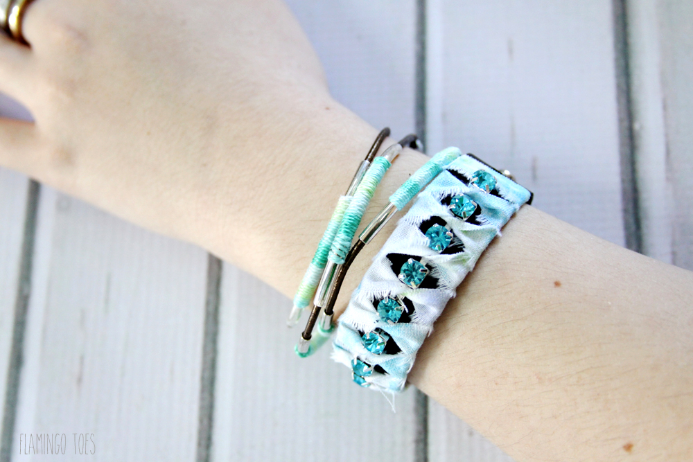 Leather and Thread Bracelets