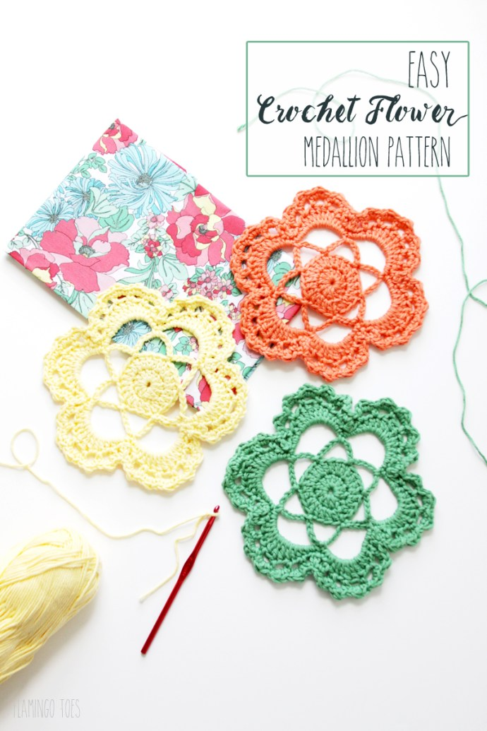 Easy Crochet Flower Medallion Pattern