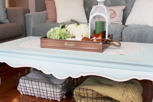 Fall Coffee Table Display
