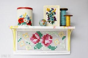 Vintage Style Cross Stitch Shelf