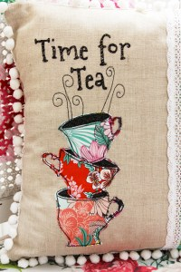 Time for Tea - Wonderland Fabric Pillow