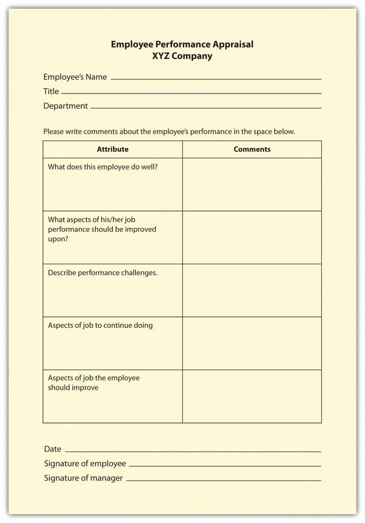 Performance Appraisal form for Hotel Staff Best Of Hotel Employee