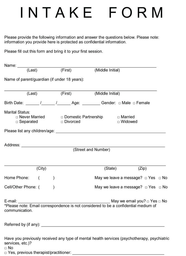 Simple Massage therapy Intake form Inspirational soap Note Template