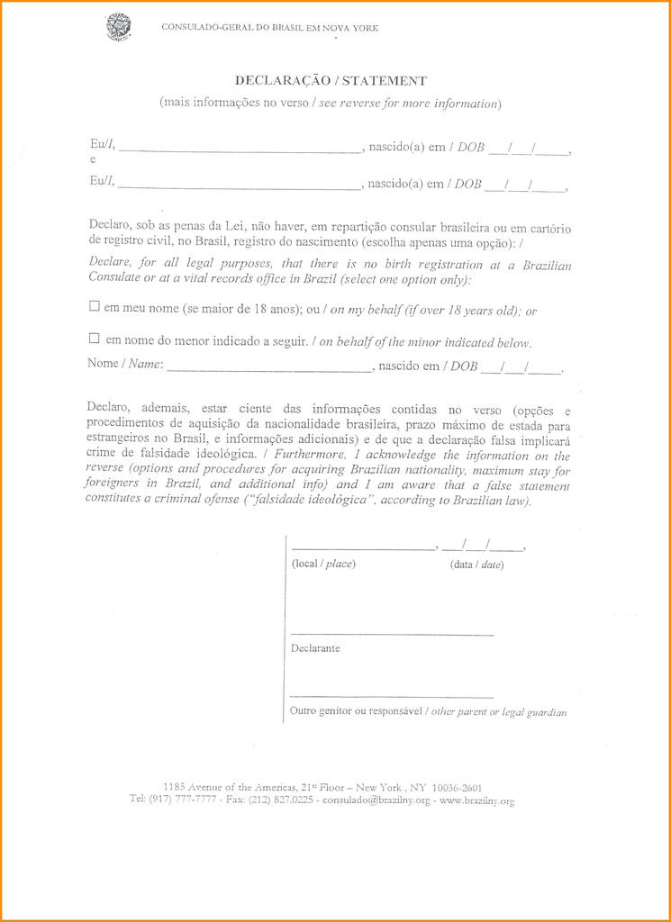 Travel Authorization form for Minors Brilliant Parental Consent to
