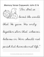 Free printable copywork from Scripture