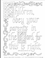 Free Calligraphy Printable to Color and Frame