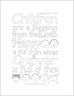 Free printable coloring sheet - Psalm 127