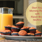 Kick start your morning with raisin bran muffins | www.flandersfamily.info