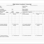 HS Transcript for Homeschoolers - Blank