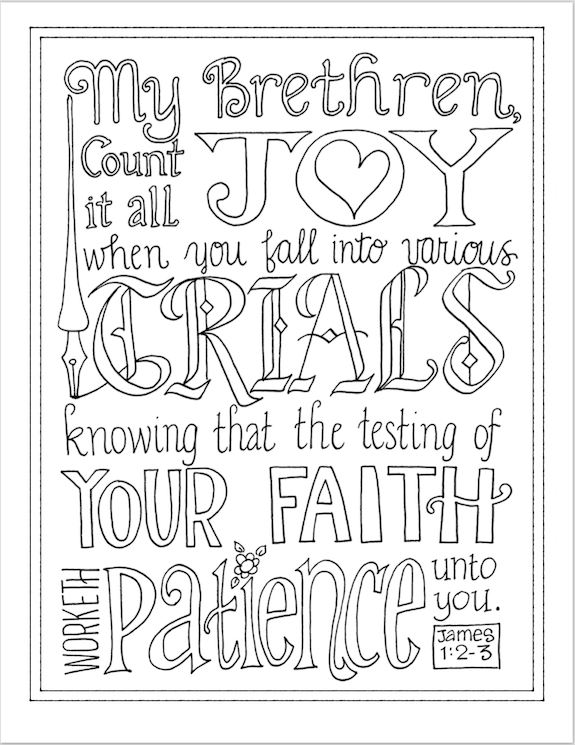 Count It All Joy Coloring Page