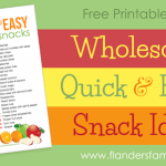Quick, easy, HEALTHFUL snacks for kids and grown-ups alike | from www.flandersfamily.info