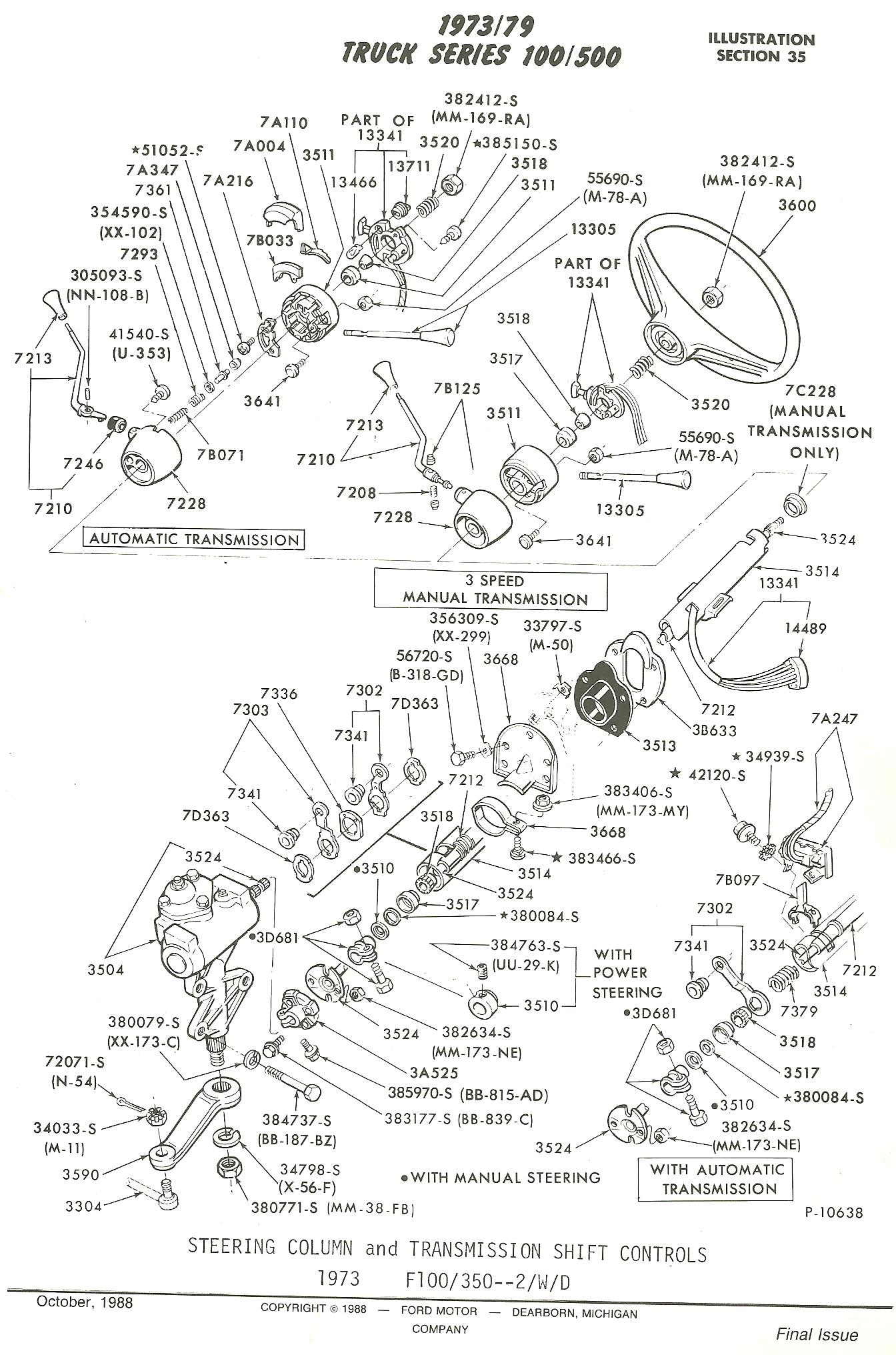 ford f100 steering column diagram page 4
