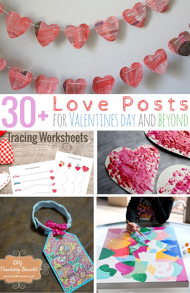 Collaborate with friends and family with this doodle heart painting part of 30 Love Posts for Valentines Day.